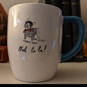 Rae Dunn French sketch design ooh la la mug